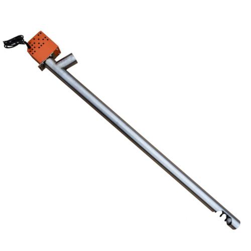 External pellet auger